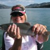 Tammy from Texas with her first BC Kokanee.