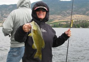 Tammy of Texas with a nice Smallie caught on a texas rigged tube