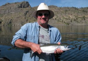 Mark of England with a beauty Okanagan Lake Kokanee.