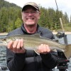Jim of Vancouver with a nice fly caught Bull Trout from Shuswap Lake