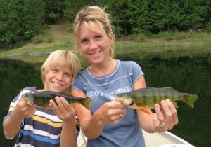 Sandra and Dylan enjoying some fishing time together