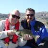 Bob Of St. Louis and Mike from Kelowna catching some Smallies