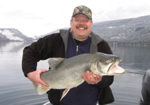Howard of Cranbrook BC with his Trophy Laker