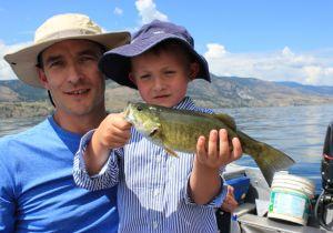 Father & son trip on Skaha lake for Smallies.