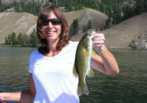 Kelly of New York with a Skaha Smallie