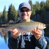 Mountain Lake fly fishing for fall Brookies