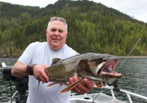 Outdoor writer Todd Martin with a nice Shuswap Lake Trout