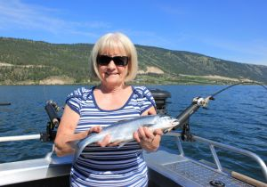 Sherrie of Calgary with  a nice Wood Lake Kokanee