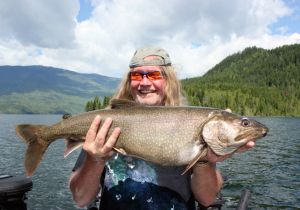 Rick of California with his 1st Place Shuswap Derby Lake Trout.