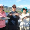 Stephen & Family of Calgary with some tasty Sockeye Salmon