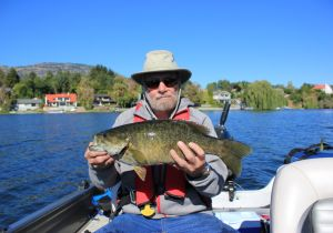 Glen of Calgary with his first Smallie. Nice fish Glen!