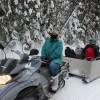 The snowmobile ride into to 'sercret' lake