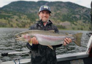 Trophy Rainbow from Skaha Lake in June