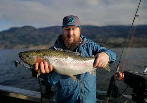 Beauty Rainbow Trout From Skaha Lake
