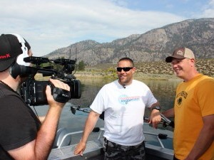 Sportfishiing Adventures filming on Osoyoos lake