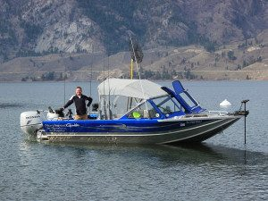 Kelowna fishing guide working for Rodney's Reel Outdoors