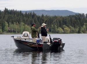 Fly Fishing at Gardom Lake