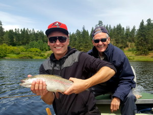 Fly fishing for big Rainbows in Kelowna