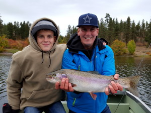 Trophy rainbow fishing charter with Rodney's Reel Outdoors