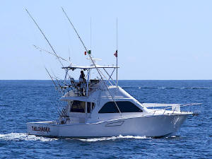 Our boat the Tailchaser in Cabo
