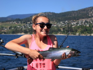A fishing charter on Okanagan lake