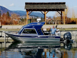 Rodney's Reel Outdoors guide Len with his Thunderjet boat