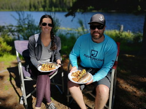 shorelunch of fresh fish with kelowna fishing