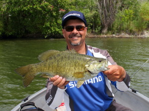 Bass fishing with kelowna fishing charters